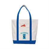 Contender White/Royal Canvas Tote-Islanders w/I