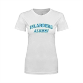 Next Level Ladies SoftStyle Junior Fitted White Tee-Alumni