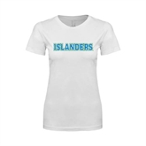 Next Level Ladies SoftStyle Junior Fitted White Tee-Islanders