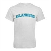 White T Shirt-Arched Islanders