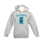 Youth Grey Fleece Hood-Islanders w/I