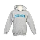 Youth Grey Fleece Hood-Arched Texas A&M Corpus Christi Design