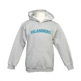 Youth Grey Fleece Hood-Arched Islanders