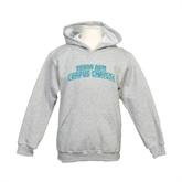 Youth Grey Fleece Hood-Arched Texas A&M Corpus Christi
