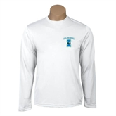 Performance White Longsleeve Shirt-Islanders w/I