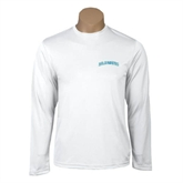 Performance White Longsleeve Shirt-Arched Islanders