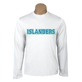 Performance White Longsleeve Shirt-Islanders