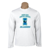 Syntrel Performance White Longsleeve Shirt-Texas A&M Corpus Christi Islanders