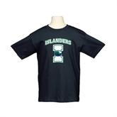 Youth Black T Shirt-Islanders w/I