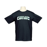 Youth Black T Shirt-Arched Texas A&M Corpus Christi Design