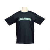 Youth Black T Shirt-Arched Islanders