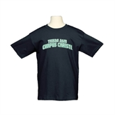 Youth Black T Shirt-Arched Texas A&M Corpus Christi