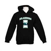 Youth Black Fleece Hoodie-Islanders w/I