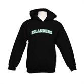Youth Black Fleece Hoodie-Arched Islanders