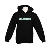 Youth Black Fleece Hoodie-Islanders