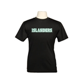 Youth Syntrel Performance Black Training Tee-Islanders