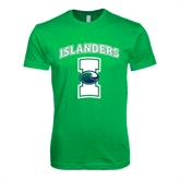 Next Level SoftStyle Kelly Green T Shirt-Islanders w/I