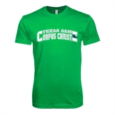 Next Level SoftStyle Kelly Green T Shirt-Arched Texas A&M Corpus Christi Design