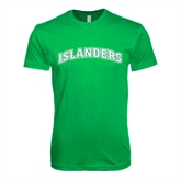 Next Level SoftStyle Kelly Green T Shirt-Arched Islanders