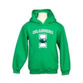 Youth Kelly Green Fleece Hoodie-Islanders w/I
