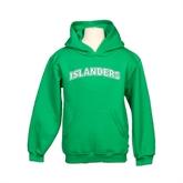 Youth Kelly Green Fleece Hoodie-Arched Islanders