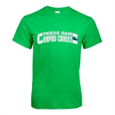 Kelly Green T Shirt-Arched Texas A&M Corpus Christi Design