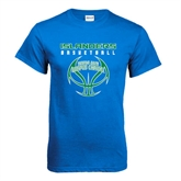 Royal T Shirt-Islanders Basketball Stacked