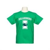 Youth Kelly Green T Shirt-Islanders w/I