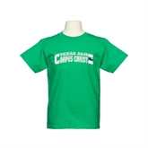 Youth Kelly Green T Shirt-Arched Texas A&M Corpus Christi Design