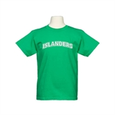 Youth Kelly Green T Shirt-Arched Islanders