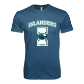 Next Level SoftStyle Indigo Blue T Shirt-Islanders w/I