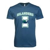 Next Level SoftStyle Indigo Blue T Shirt-Islanders w/I