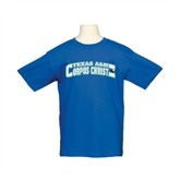 Youth Royal T Shirt-Arched Texas A&M Corpus Christi Design