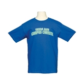 Youth Royal T Shirt-Arched Texas A&M Corpus Christi