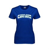 Ladies Royal T Shirt-Arched Texas A&M Corpus Christi Design