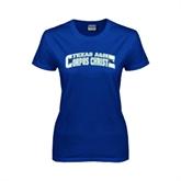 Ladies Royal T Shirt-Arched Texas A&M Corpus Christi Design