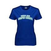 Ladies Royal T Shirt-Arched Texas A&M Corpus Christi