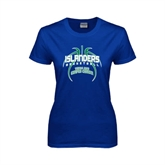 Ladies Royal T Shirt-Islanders Basketball