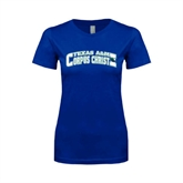 Next Level Ladies SoftStyle Junior Fitted Royal Tee-Arched Texas A&M Corpus Christi Design