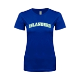 Next Level Ladies SoftStyle Junior Fitted Royal Tee-Arched Islanders
