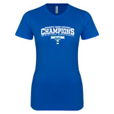Next Level Ladies SoftStyle Junior Fitted Royal Tee-2018 Womens XC Champions