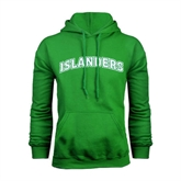 Kelly Green Fleece Hoodie-Arched Islanders
