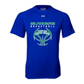 Under Armour Royal Tech Tee-Islanders Basketball Stacked