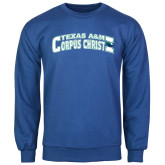 Royal Fleece Crew-Arched Texas A&M Corpus Christi Design