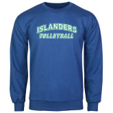 Royal Fleece Crew-Volleyball