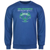Royal Fleece Crew-Islanders Basketball Stacked