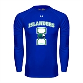 Under Armour Royal Long Sleeve Tech Tee-Islanders w/I