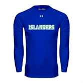 Under Armour Royal Long Sleeve Tech Tee-Islanders