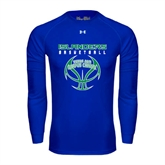 Under Armour Royal Long Sleeve Tech Tee-Islanders Basketball Stacked