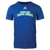 Adidas Royal Logo T Shirt-Arched Texas A&M Corpus Christi